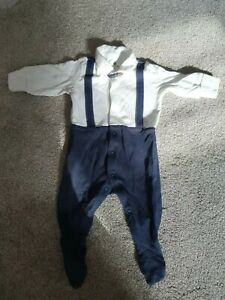 Boys Next Suit Look Romper All In One Age 0-3 Months