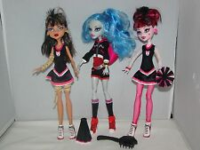 Monster High Doll Draculaura Ghoulia Yelps Cleo De Nile Fear Squad Cheerleader