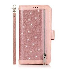 For iPhone 12 11 Pro Max XR SE 8 7 6 Wallet Card Slot Glitter Leather Case Cover