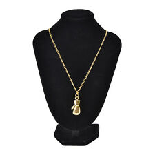 Fashion Men's Women's Stainless Steel Boxing Glove Pendant Necklace Chain