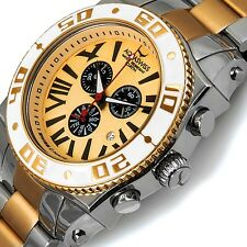AQUASWISS Men's Swissport XG Day/Date 2-Tone Brand New Swiss Chrono-List $2,200