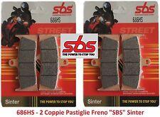 686HS 2 CP Pastiglie Freno Anteriori SBS Sinter per Kawasaki ZRX 1200 R dal 2001