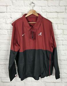 NEW Nike Alabama Crimson Tide Football On Field Pullover Windbreaker Jacket XXL