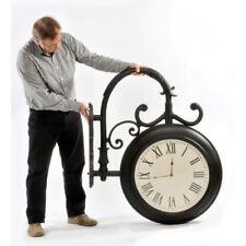 """""""Sandridge"""" Station Clock in Satin Black"""