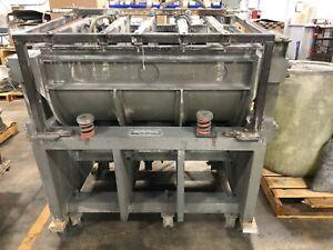 Vibrodyne VE-1000 vibratory tub deburring machine