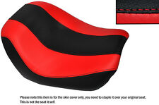 DESIGN 2 BLACK & RED CUSTOM FITS HARLEY NIGHT V ROD SPECIAL FRONT SEAT COVER