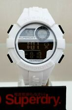 New Mens Boys SUPERDRY Watch Digital White Silicone strap RRP£110!! GENUINE (SD6