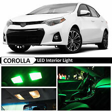 2015 & up Toyota Corolla Green Interior LED Light Package Kit