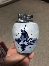 "Vintage 3"" DELFT Pottery Windmill Lighter"