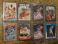 8) Ozzie Guillen 1985 1986 Fleer Topps Donruss Leaf Rookie Card Lot RC White Sox