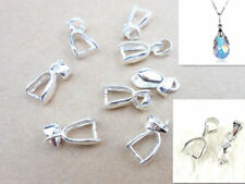 20PC Size L 92 Sterlin Silver Findings Bail Connector Bale Pinch Clasp wholesale