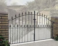Gader Spear Top Driveway Gate fit 2134mm to 3658mm GAP Wrought Iron Metal gates