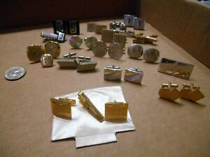 VINTAGE LOT OF 15 PAIR OF CUFFLINKS ,SOME SETS