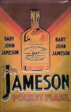 John Jameson Pocket Flask embossed steel sign   300mm x 200mm (hi)