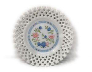 Vintage Keito Inglaze China Plate, Pretty Flower And Lacework Design