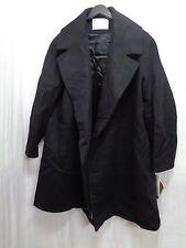 Women's Fleurette Long Wool Coat in Black Size 14 $1150.00