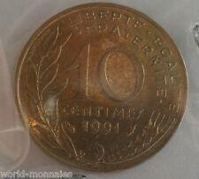 10 centimes marianne 1991 : SUP : pièce de monnaie française