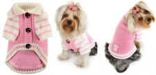 Brand New Pink and White Cardigan Dog Sweater size small