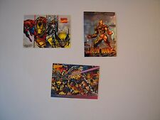 PROMO COMICS CARD  X MEN 93  MARVEL COMICS 95 IRON MAN CHROMIUM  97 TBE