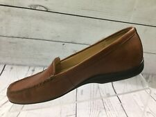 Trotters Tan Leather Slip On Moc  Loafers  Size 6.5 Brazil