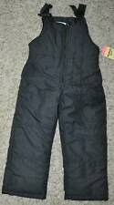 NWT $38-Girls OshKosh Solid Black Winter Snow Ski Pants Overalls Bibs-size 4