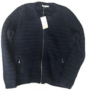 M/S ladies zip up wool cardigan New