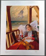 GIBRAT - Lithographie LE SURSIS : CECILE - Limité à 60 exemplaires