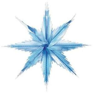 2-Tone Metallic Snowflakes Blue and Silver 2 Pack Winter Christmas Party Decor
