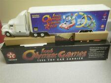 VINTAGE  1996 TEXACO TOY CAR CARRIER- IZZY'S OLYMPIC GAMES- NEW I- L184