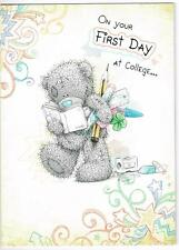 ME TO YOU ON YOUR FIRST DAY AT COLLEGE ... TATTY TEDDY BEAR CARD NEW