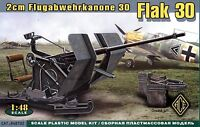 ACE 1/48 48102 WWII German 2cm Anti-Aircraft Gun Flak 30 Flugabwehrkanone 30