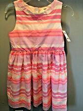 Girls Oshkosh Striped Dress Size 8- New With Tags