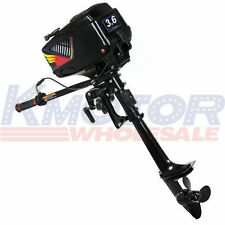 New Heavy Duty Outboard Motor Boat Engine 2 Stroke 3.6HP W/Water Cooling System