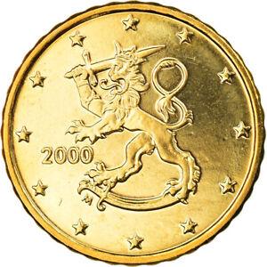 [#795317] Finlande, 10 Euro Cent, 2000, Vantaa, SPL, Laiton, KM:101
