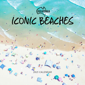 2021 Calendar Our Australia Iconic Beaches Square Wall by Paper Pocket 18185