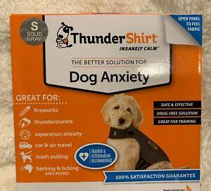 Genuine Thundershirt For Dog Anxiety Small Solid Gray (New damage box) FREE SHPN