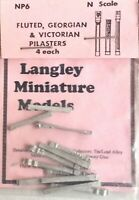 Fluted Victorian Georgian Pilasters NP6 UNPAINTED N Gauge Scale Model Kit Metal