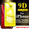 For iPhone 11 Pro Max 6 7 8 X XS XR 9D Curved Tempered Glass Screen Protector w7