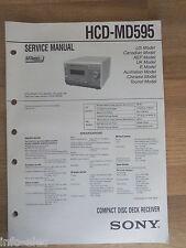 Schema SONY - Service Manual Compact Disc Deck Receiver HCD-MD595 HCDMD595