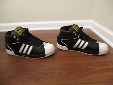 Classic 2006 Used Worn Size 13 Adidas Pro Model Attitude Shoes Black White Gold