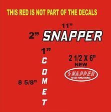 3- SNAPPER COMET GARDEN TRACTOR  VINYL DECALS