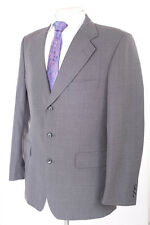 AUSTIN REED GREY TEXTURED 100% WOOL MEN'S SUIT 40R DRY-CLEANED