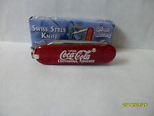 """COCA COLA  CHATTANOOGA TENNESSEE MULTI FUNCTION/KEY CHAIN KNIFE  FROST 2 1//4"""""""