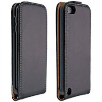iPod Touch 6th & 5th Generation Genuine Leather Flip Case+Screen Cover Slim New