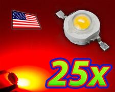 [25x] 1W Bright Red High Power LED Lamp Beads 40-50Lm 1 Watt