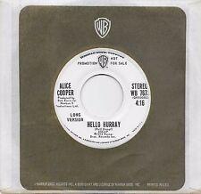 ALICE COOPER  Hello Hurray  2 versions  rare promo 45 from 1973