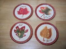 MWW Market Mini Fall Colors Leaves Plate Set of 4 Maple Oak Birch Poplar