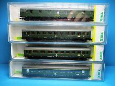 Trix 15751-53+56 Wagenkonvolut 4 DB Schürzen-Personenzugwagen,gebr.,OVP,M 1:160,