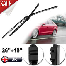 """26"""" + 19"""" FRONT WINDSCREEN WIPER BLADES BLACK FOR FORD FOCUS C-MAX 2003-2010"""
