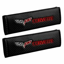 Corvette - Embroidered * Seat Belt Cover * Shoulder Pads * Carbon Fiber Look *